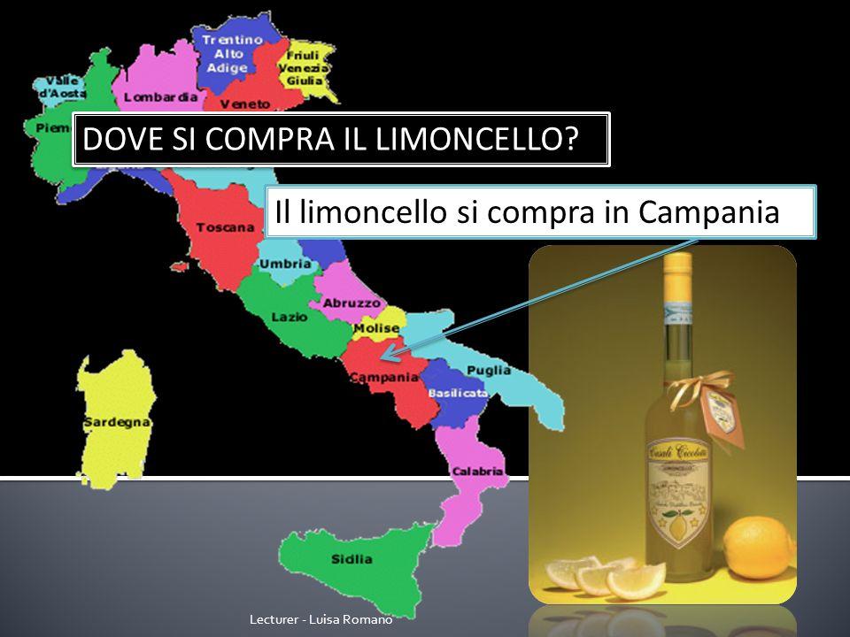 Lecturer - Luisa Romano DOVE SI COMPRA IL PESTO? Il pesto si compra in Liguria