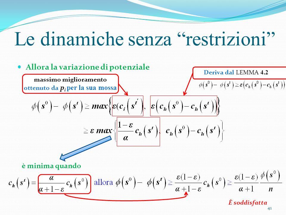 Le dinamiche senza restrizioni Risposta: Si 2) Domanda: quando non viene utilizzato nessun meccanismo di coordinamento cosa succede.