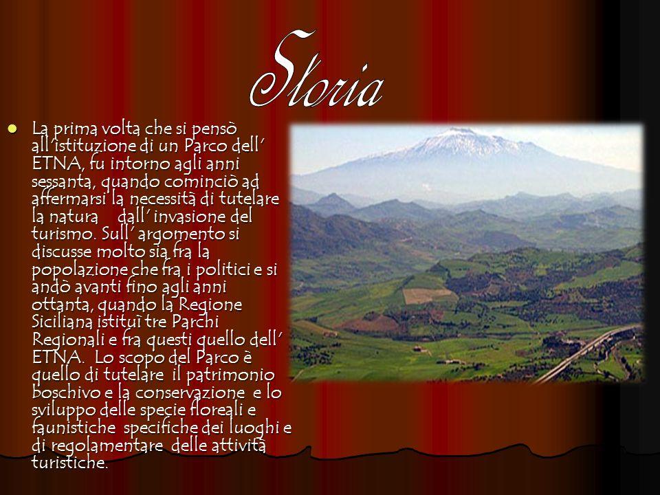 Il parco dell Etna e suddiviso in 4 zone: Il parco dell Etna e suddiviso in 4 zone: A.