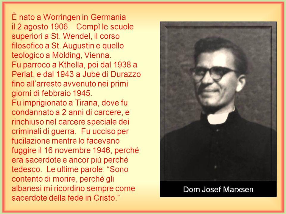 È nato a Worringen in Germania il 2 agosto 1906.Compì le scuole superiori a St.