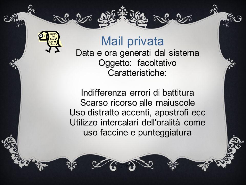NUOVO GALATEO EPISTOLARE NETIQUETTE ( NET+ ETIQUETTE) - PREFERENZA ESPRESSIONI IMPERSONALI - SINTESI DEI CONTENUTI - ORGANIZZAZIONE DEI CONTENUTI PER NUCLEI INFORMATIVI DISTINTI (CHUNKS) - QUOTING CIOÈ CITAZIONE SELETTIVA DEI BRANI ALL INTERNO DEL MESSAGGIO PRECEDUTO DAL SEGNO > E SEGUITI DA RISPOSTA E COMMENTO Mail formale professionale