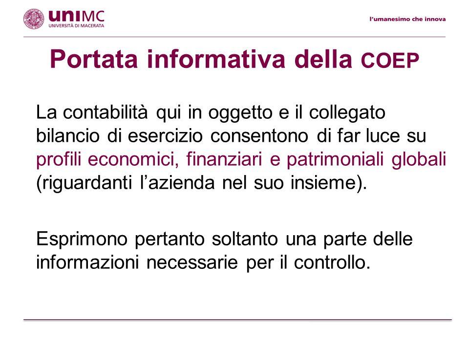Altri sistemi di rilevazione Per soddisfare esigenze conoscitive collegate ad una prospettiva di controllo e miglioramento occorrono senzaltro anche sistemi di: contabilità analitica ( COAN ); rilevazione extra-contabile.