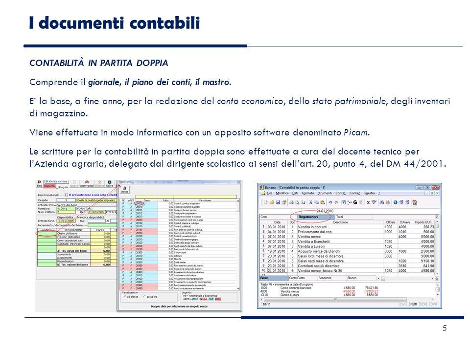 I documenti contabili 6 CONTABILITÀ IVA E FISCALE LAzienda mantiene ai fini fiscali, la contabilità ordinaria.