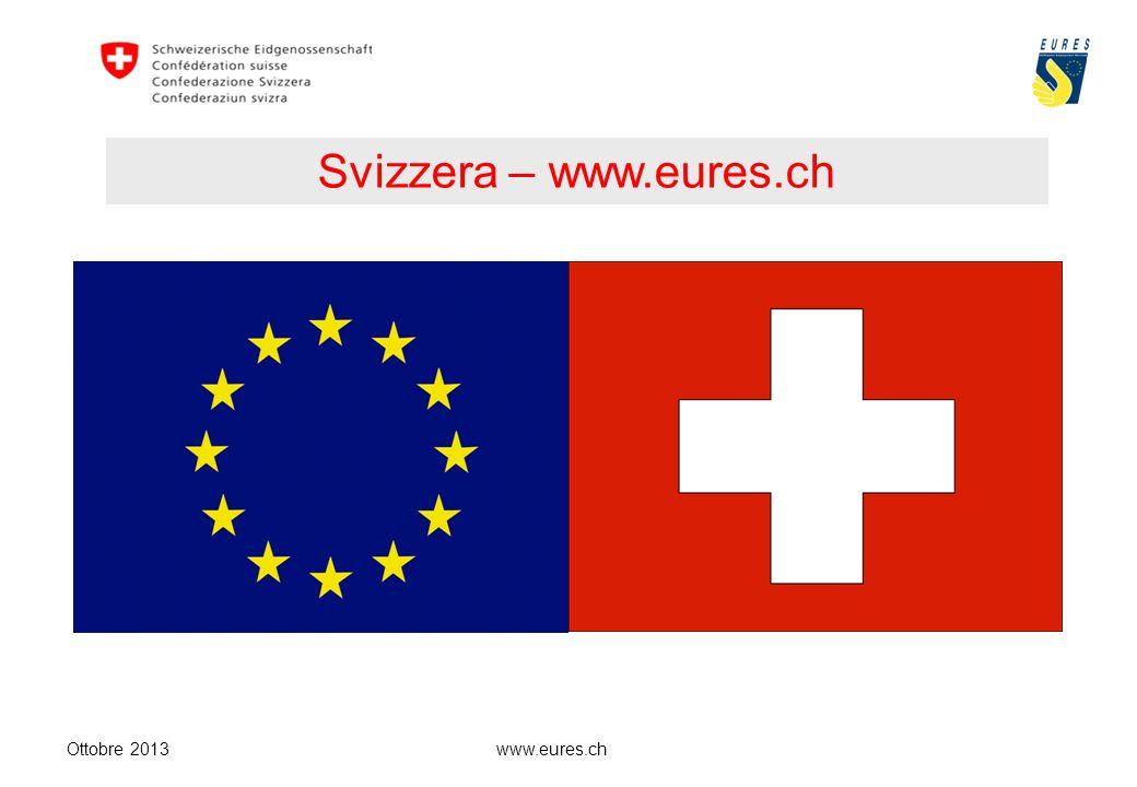 www.eures.ch Svizzera – www.eures.ch Ottobre 2013
