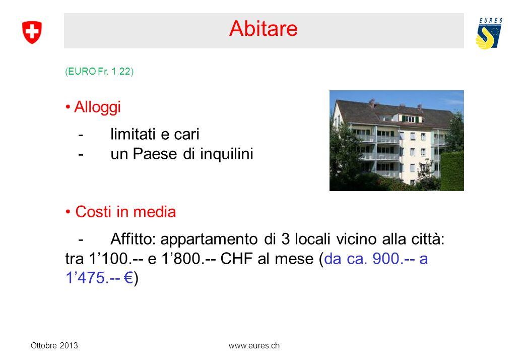 www.eures.ch Abitare Ottobre 2013 (EURO Fr.