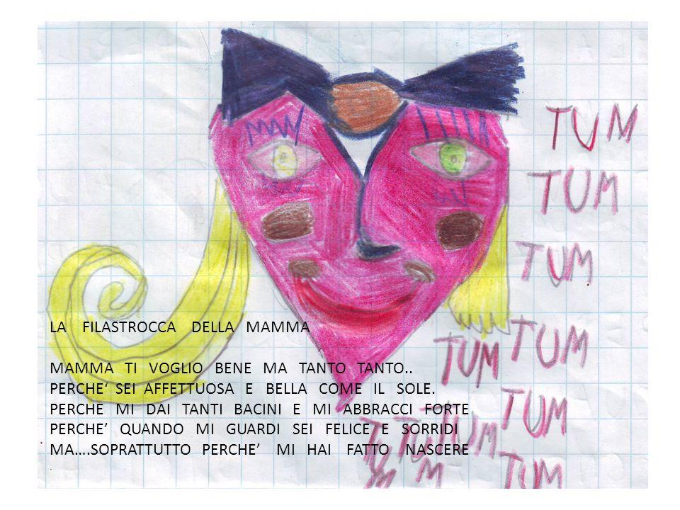 LA FILASTROCCA DELLA MAMMA MAMMA TI VOGLIO BENE MA TANTO TANTO..