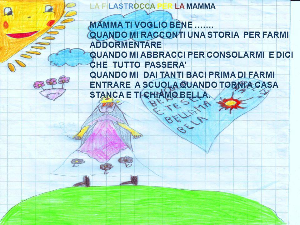 LA FILASTROCCA PER LA MAMMA MAMMA TI VOGLIO BENE …….