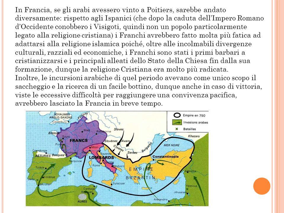 In questo modo lIslam possedeva tutti i territori compresi fra Spagna, Africa, Medio Oriente, Arabia e Asia fino allIndia e alla Cina, mentre in Europa, che era sicuramente più frammentata del mondo arabo, aveva come centro nevralgico la Francia e la Germania.