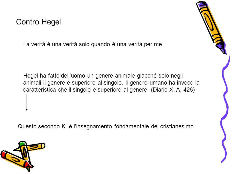 Stadi dellesistenza Il primo libro di K.sintitola Aut-Aut.