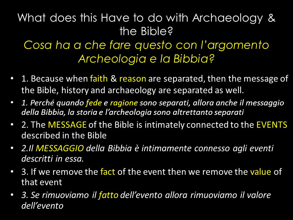 Facts & Values/Fatti e Valori Reason & Faith/Ragione e Fede If there is no resurrection of the dead, then not even Christ has been raised.