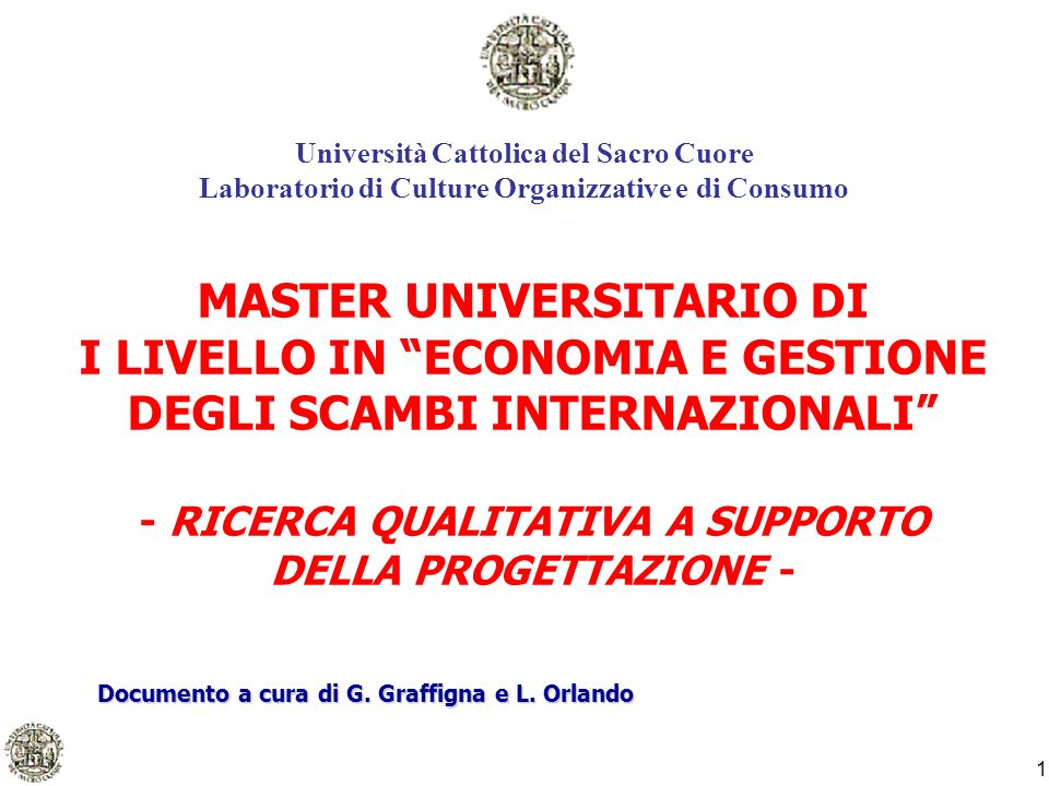 2 Premessa Economia e Gestione degli Scambi Internazionali.