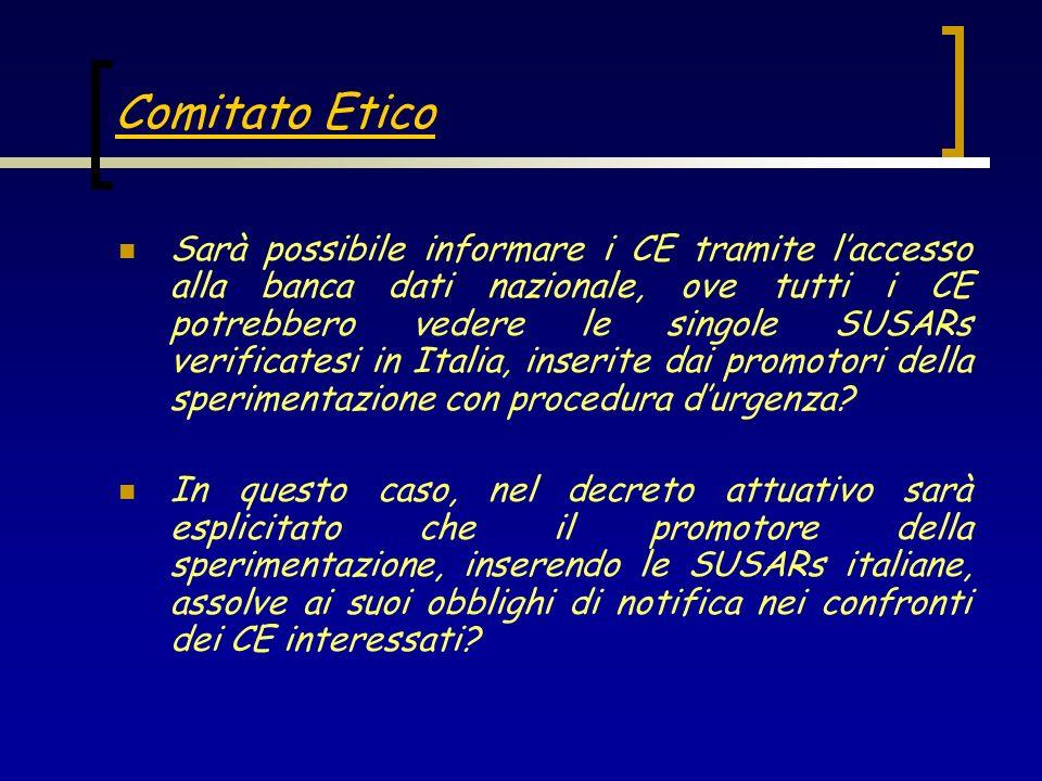 In che modo i CE verranno informati dellinserimento di una SUSAR di loro interesse nella banca dati italiana.