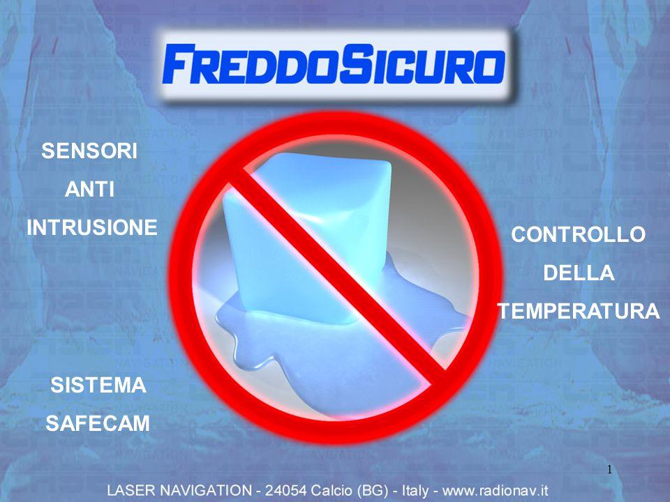 2 SISTEMA FREDDO SICURO PER MAGAZZINI FRIGORIFERI ATTRAVERSO IL SISTEMA FREDDO SICURO SIAMO IN GRADO DI PROTEGGERE LA VOSTRA PROPRIETÀ: 1.DAL RISCHIO DI PERDITA DELLE MERCI CONSERVATE IN CELLE FRIGORIFERE DOVUTA AL MAL FUNZIONAMENTO DELLIMPIANTO REFRIGERANTE 2.DA TENTATIVI DI INTRUSIONE NEI VOSTRI MAGAZZINI E UFFICI