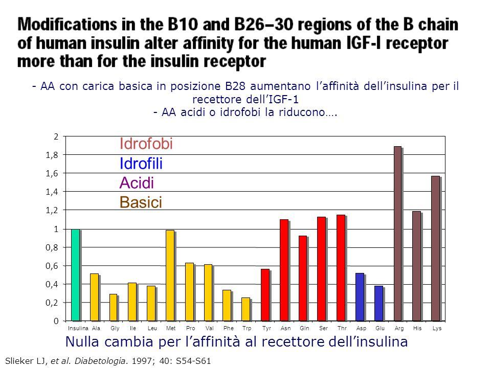 Le modifiche strutturali negli Analoghi dellinsulina si concentrano nella porzione C- terminale della catena B X10