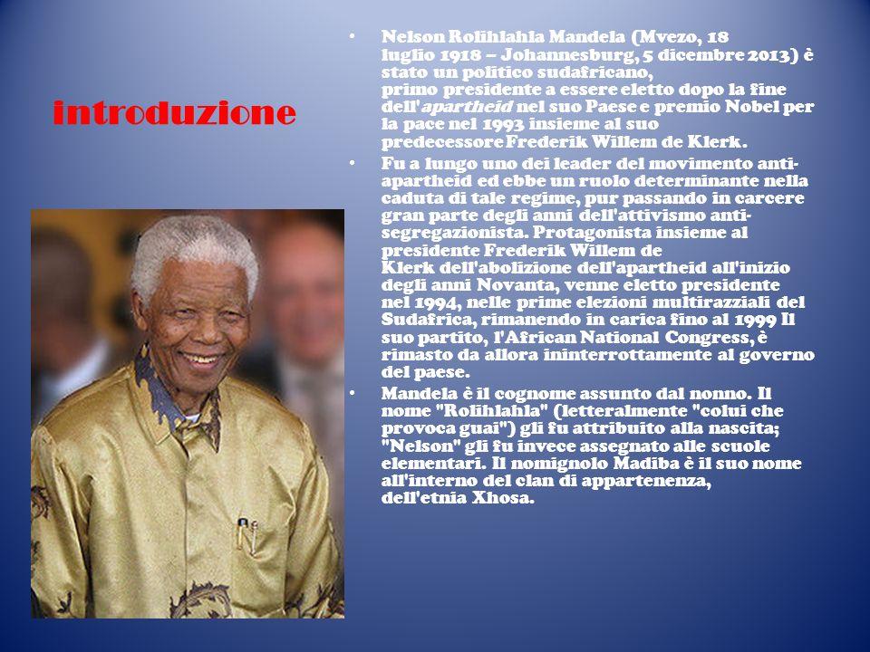 La vita giovanile Nelson Mandela mosse i primissimi passi verso la conquista della libertà degli uomini nel 1941, all età di ventidue anni, quando insieme al cugino Justice fu messo di fronte all obbligo di doversi sposare con una ragazza scelta dal capo Thembu Dalindyebo.