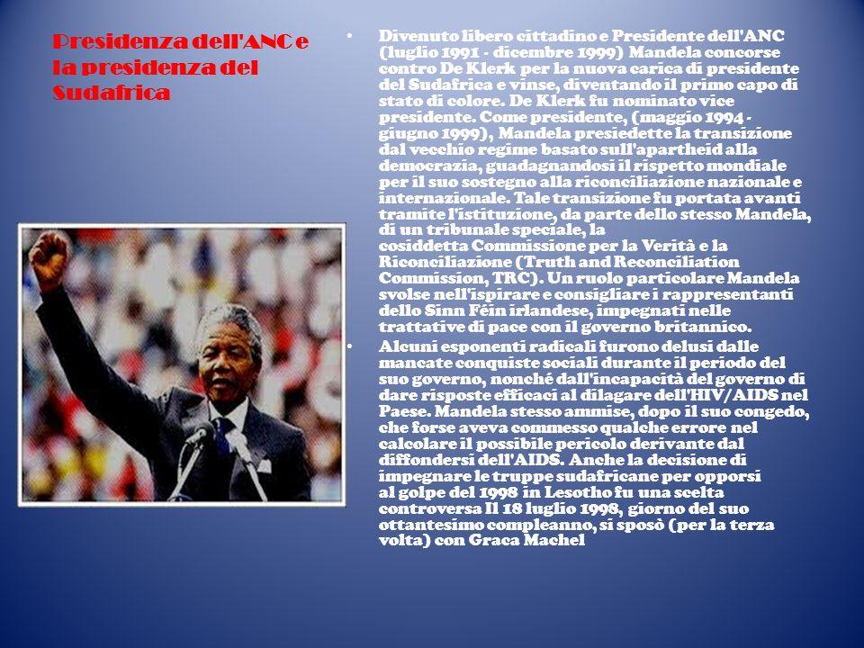 La vita privata Mandela si è sposato tre volte.