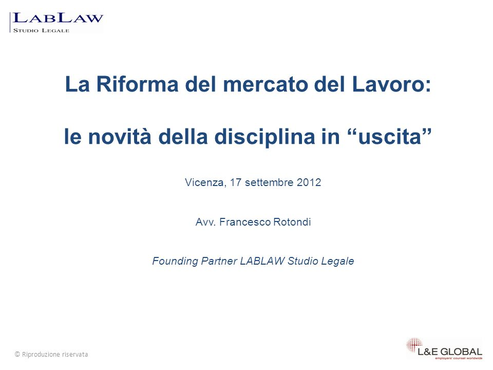 Riferimenti normativi L.n. 300/70 artt. 7 e 18 L.