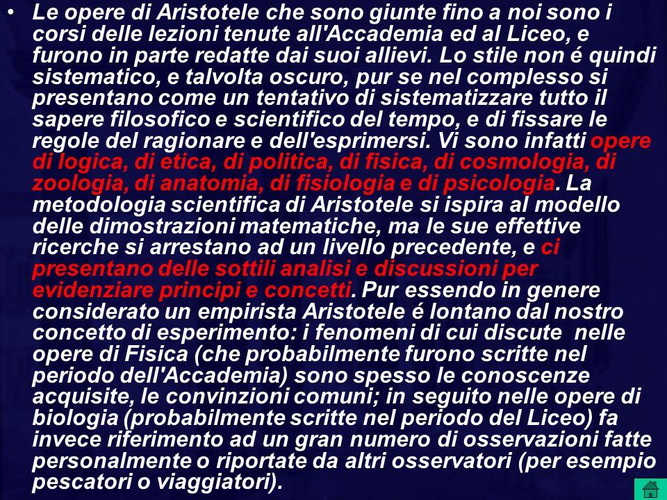La storia di come gli scritti di Aristotele ci siano pervenuti é complessa, ma già nel 1300 quasi tutte le opere di Aristotele erano state tradotte in Latino, sia direttamente dal greco, sia attraverso la mediazione araba, ed erano state trascritte in numerosi esemplari.