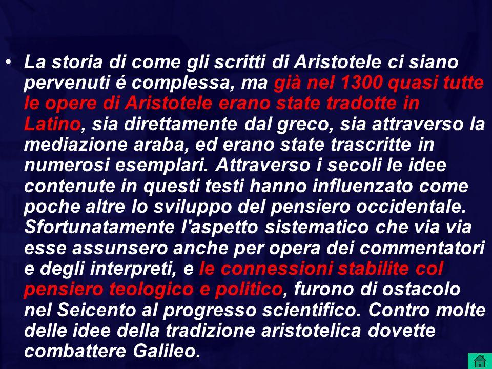 Aristotele: spazio e moto Aristotele, rinunciando al vecchio modello atomista di spazio omogeneo ed isotropo, entità indipendente dagli oggetti fisici e sistema di riferimento per i movimenti dei medesimi, introduce quello di spazio relazionale, inteso come luogo o posizione relativa dei corpi, che sono le entità fondamentali.