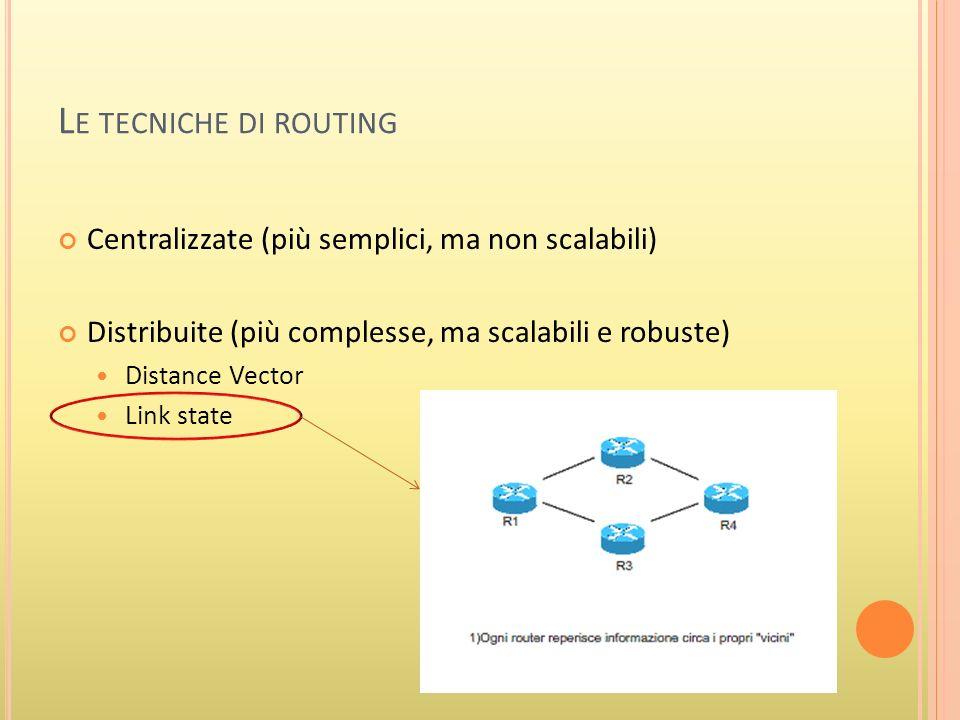 L A MATRICE DELLE DISTANZE Attraverso la matrice delle distanze è possibile risalire alla situazione globele dellintera rete.
