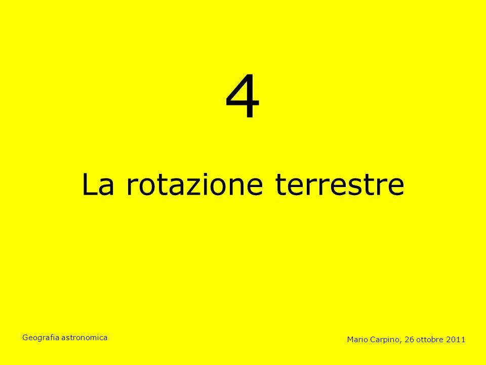Momento angolare Mario Carpino, 26 ottobre 2011 Geografia astronomica Momento angolare = momento dinerzia × velocità angolare L = I × ω