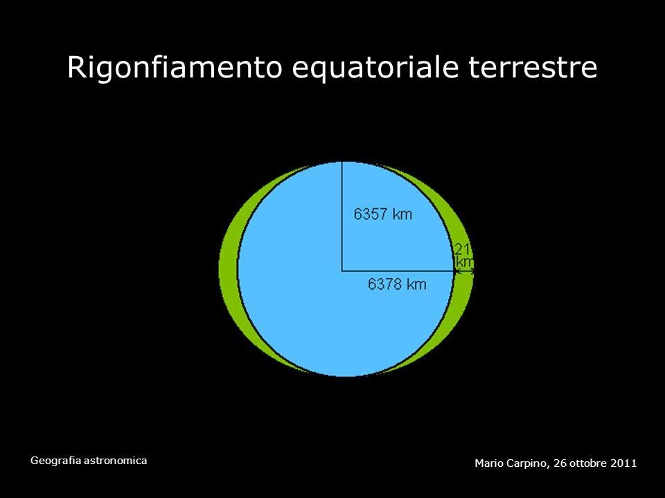 Rigonfiamento equatoriale terrestre Mario Carpino, 26 ottobre 2011 Geografia astronomica