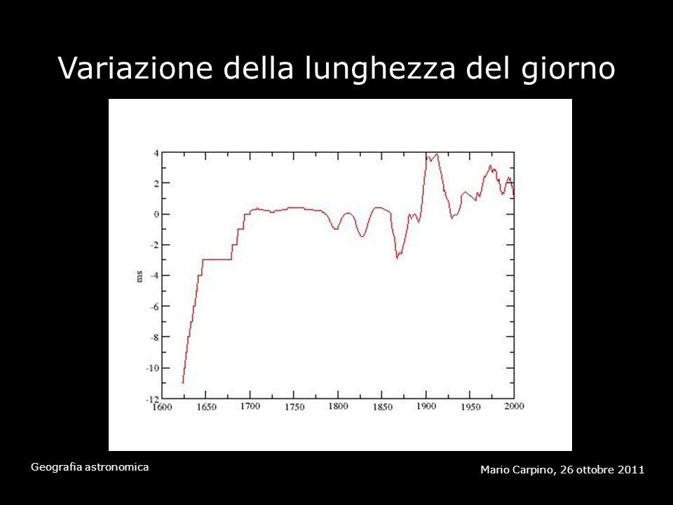 Attrito mareale Mario Carpino, 26 ottobre 2011 Geografia astronomica