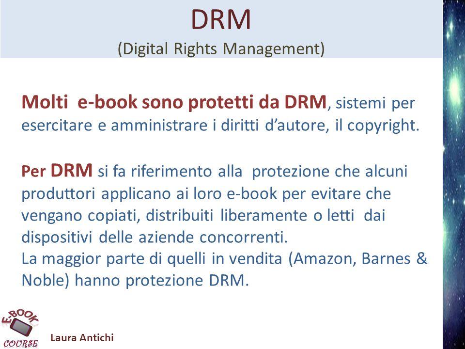 Laura Antichi Formato.pdf (Portable Document Format) Non è un formato specifico per ebook.