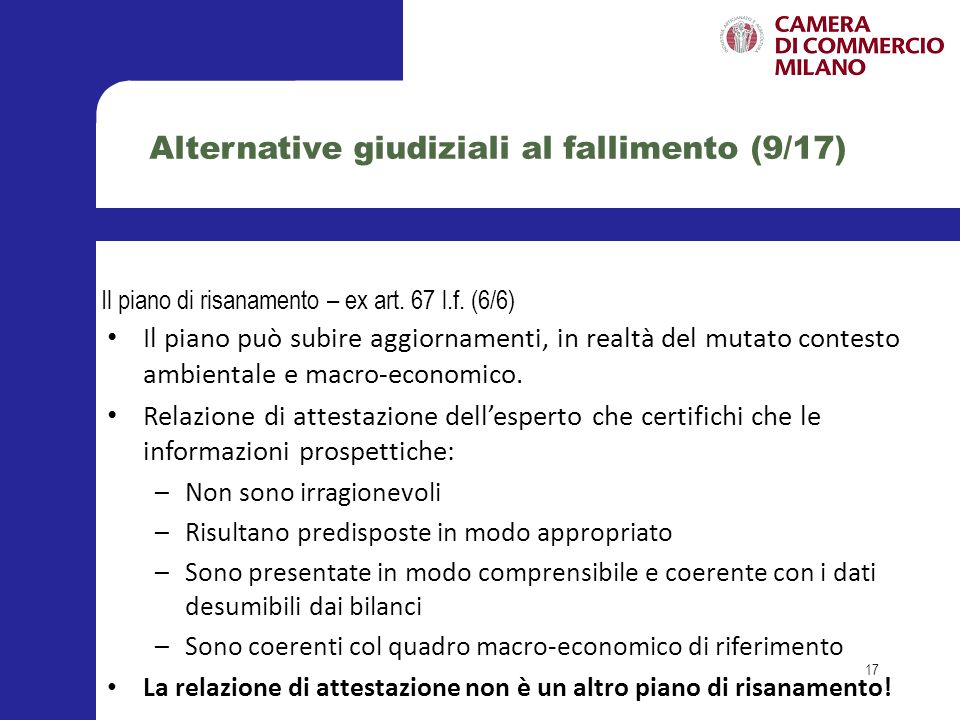 Gli accordi di ristrutturazione dei debiti – Art.