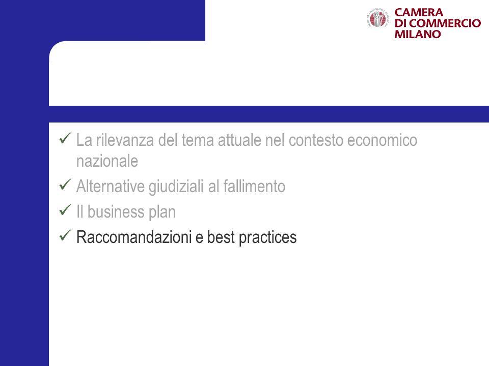 Le seguenti raccomandazioni sono tratte da Assonime, (Linee guida per il finanziamento delle imprese in crisi, (2010) e integrate tenendo conto delle best practices riscontrate nella prassi professionale.