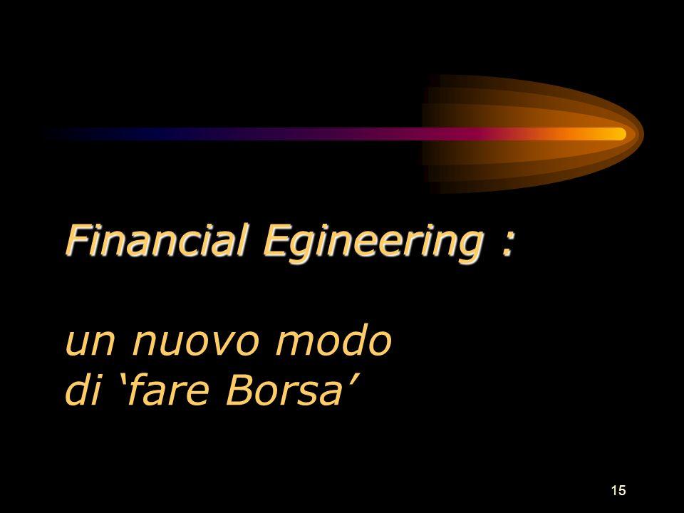 15 Financial Egineering : Financial Egineering : un nuovo modo di fare Borsa
