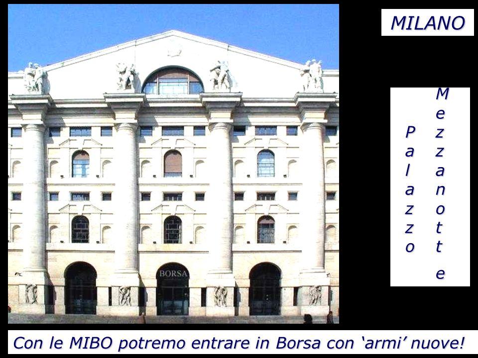 MePzazlaanzoztoteMePzazlaanzoztoteMePzazlaanzoztoteMePzazlaanzoztote MILANO Con le MIBO potremo entrare in Borsa con armi nuove!