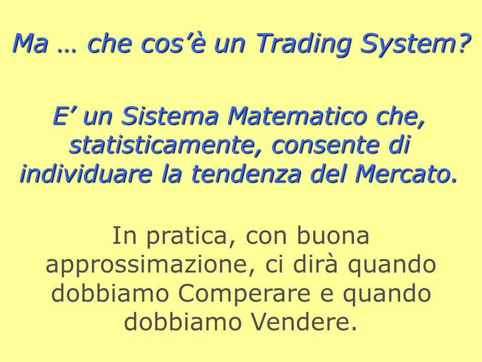 E un Sistema Matematico che, statisticamente, consente di individuare la tendenza del Mercato.