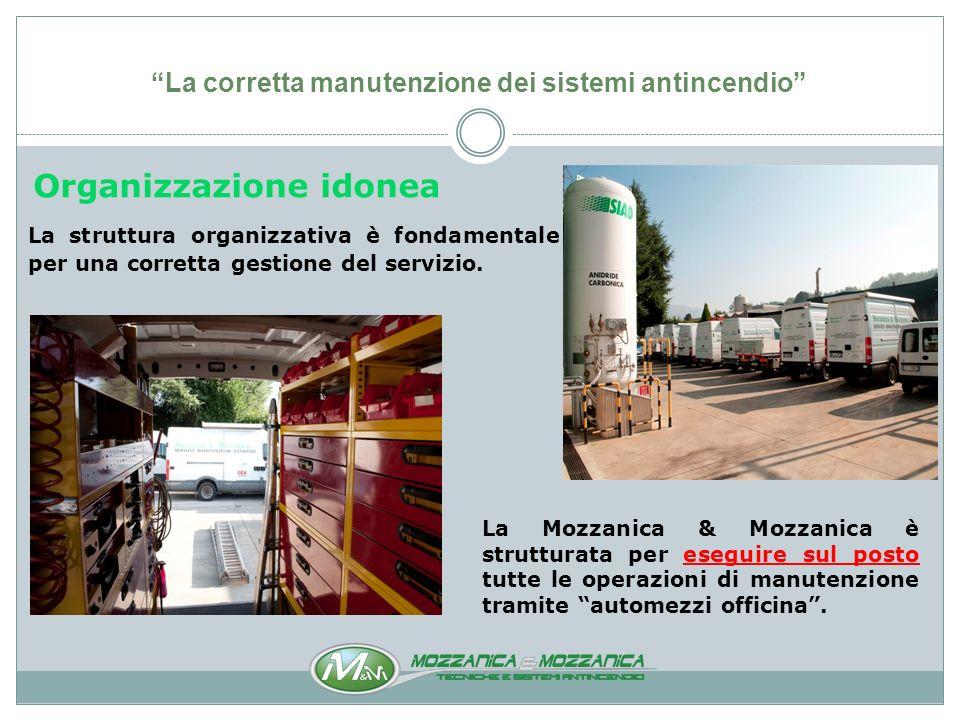 La corretta manutenzione dei sistemi antincendio Il Servizio di Manutezione è suddiviso in due settori: Manutenzione Impianti e Manutenzione Estintori e Attrezzature Antincendio.