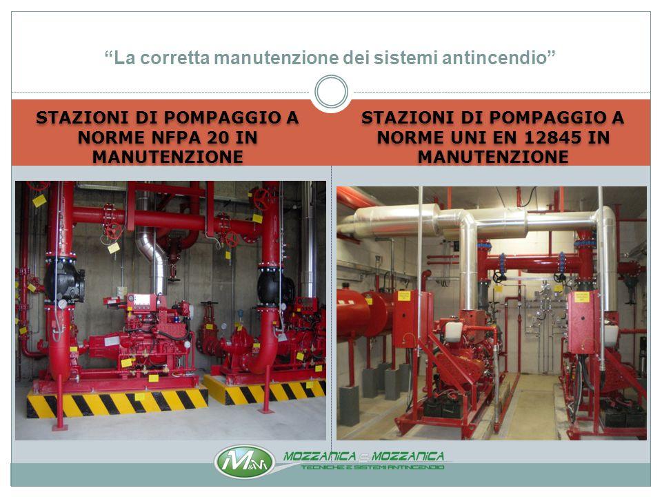 IMPIANTI A CO 2 A NORME NFPA 12 IN MANUTENZIONE IMPIANTI A INERGEN A NORME UNI EN 15004-10 IG541 IN MANUTENZIONE La corretta manutenzione dei sistemi antincendio
