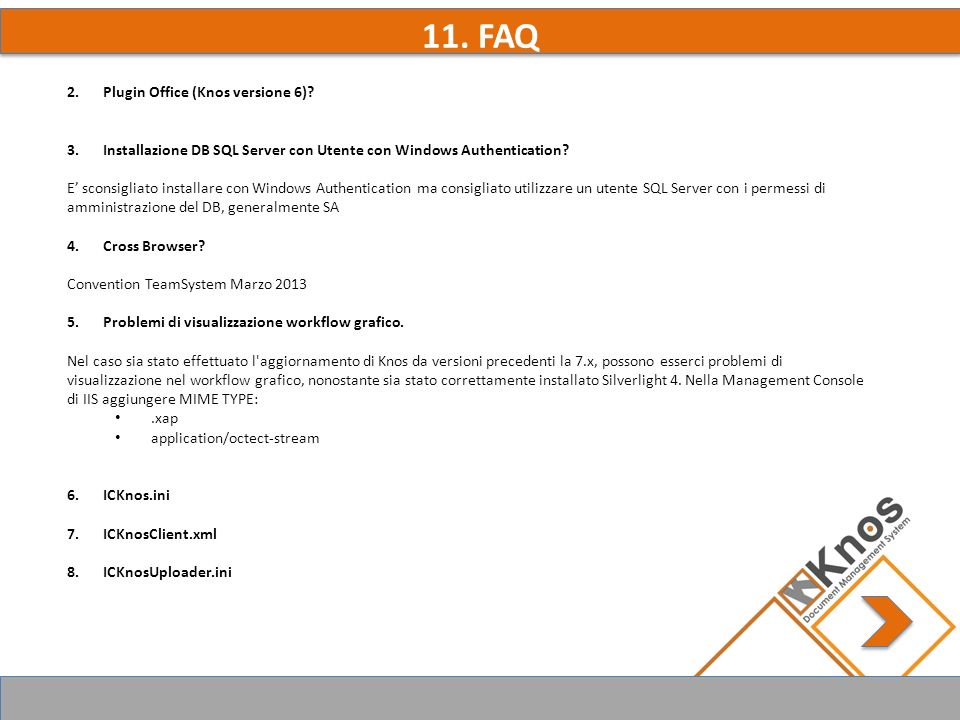 12. OLTRE IL BROWSER KnoS API