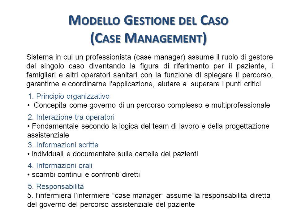 M ODELLO G ESTIONE DEL C ASO 6.