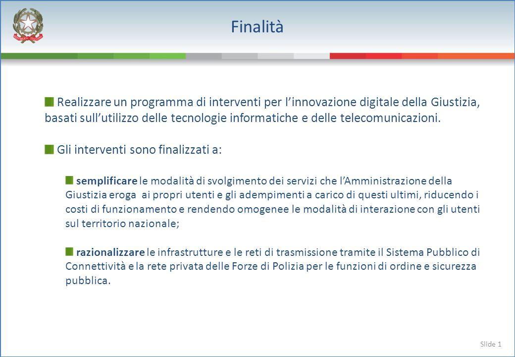 Slide 2 Interventi previsti Gli interventi previsti dal protocollo sono: notificazioni telematiche delle comunicazioni e degli atti processuali ad avvocati e ausiliari del giudice, in attuazione dellart.
