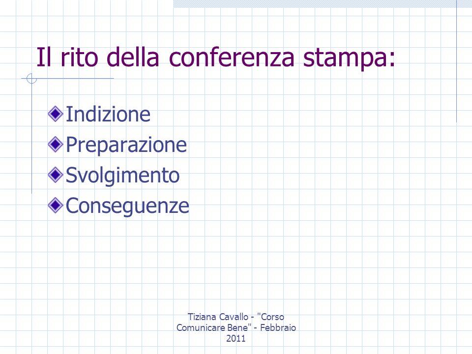 Tiziana Cavallo - Corso Comunicare Bene - Febbraio 2011 Il sito ottimo strumento di comunicazione in tempo reale deve essere aggiornato costantemente in futuro potrebbe ospitare conferenze stampa virtuali e veri e propri uffici stampa virtuali Ma oggi anche i SOCIAL NETWORK possono essere ottimi siti