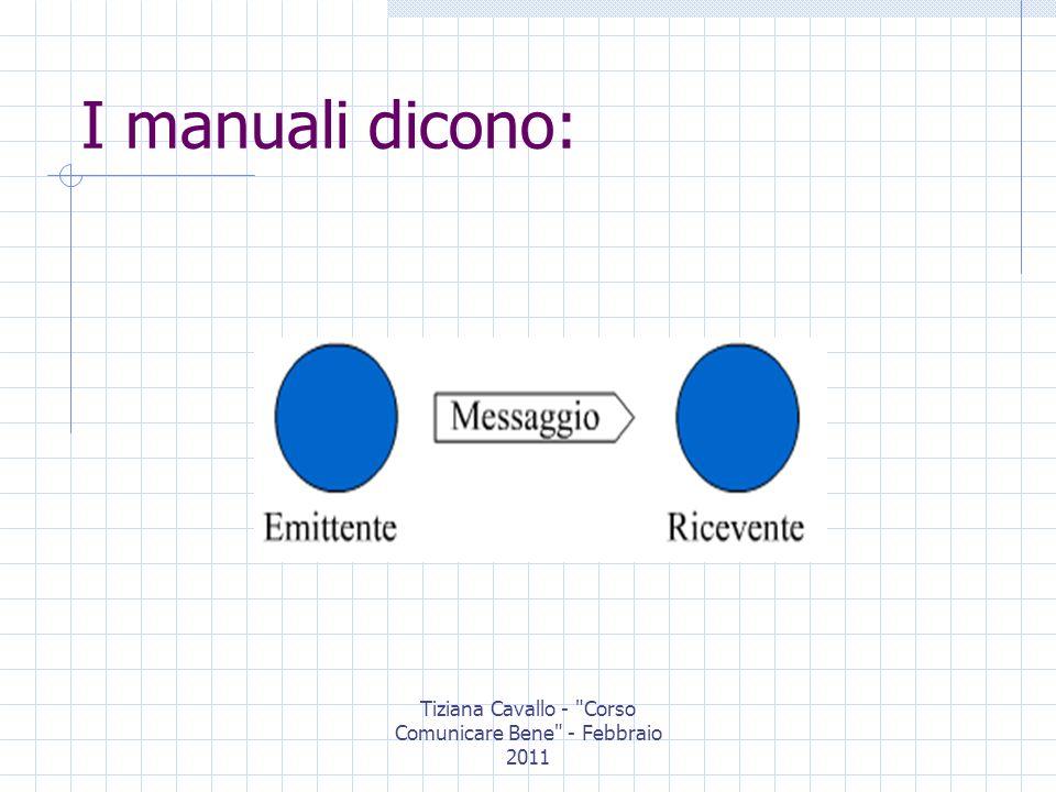 Tiziana Cavallo - Corso Comunicare Bene - Febbraio 2011 La comunicazione può essere: Comunicazione verbale Comunicazione non verbale Comunicazione simbolica
