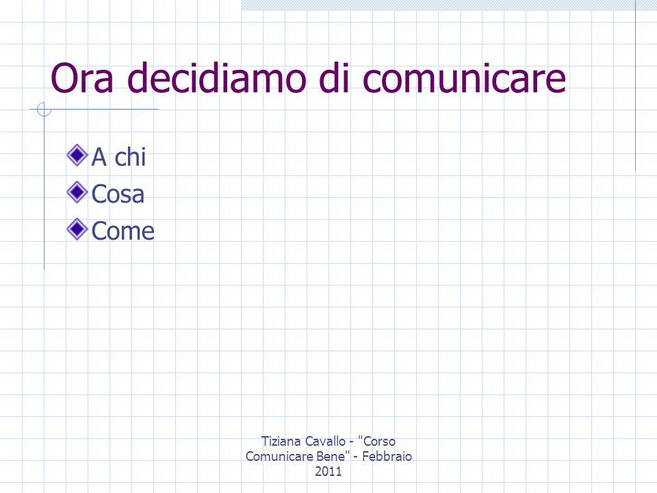 Tiziana Cavallo - Corso Comunicare Bene - Febbraio 2011 UFFICIO STAMPA O MEDIA RELATION Uno strumento della comunicazione: