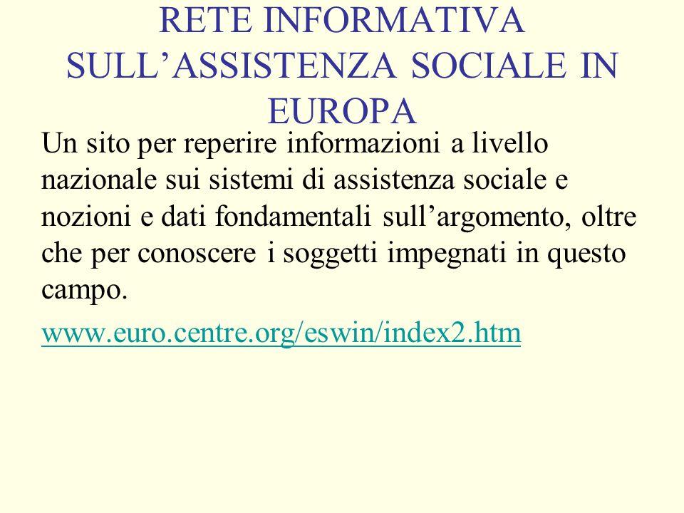 SEGRETERIA DELLOSSERVATORIO EUROPE PER LOCCUPAZIONE Il sito consente di conoscere la strategia europea per loccupazione e le politiche nazionali in materia di mercato del lavoro.