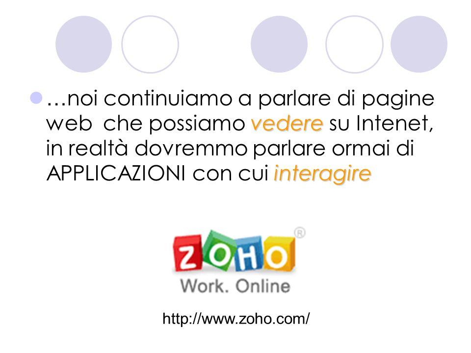 vedere interagire … noi continuiamo a parlare di pagine web che possiamo vedere su Intenet, in realtà dovremmo parlare ormai di APPLICAZIONI con cui interagire http://www.ba.infn.it/~zito/museo/leonardo1.html