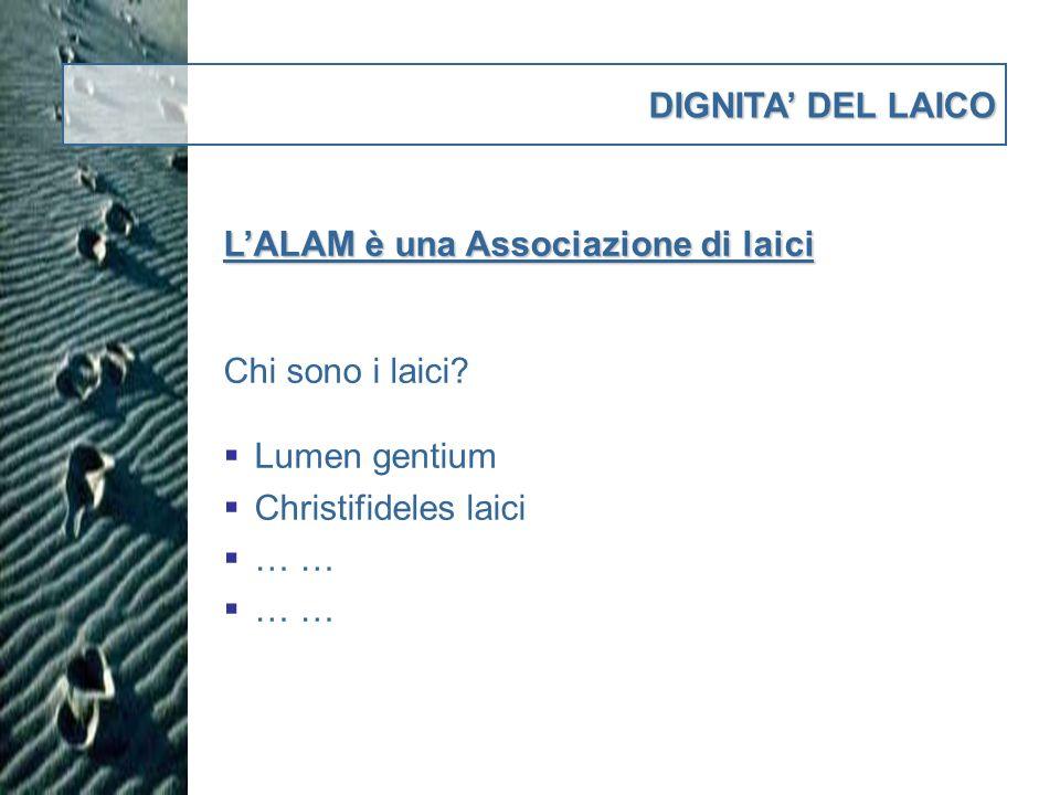 DIGNITA DEL LAICO LALAM è una Associazione di laici Chi è, e che ruolo ha, il Referente religioso .