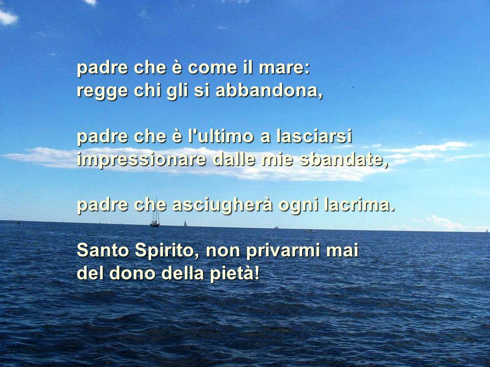 Santo Spirito, il dono del timor di Dio è un dono saggio.