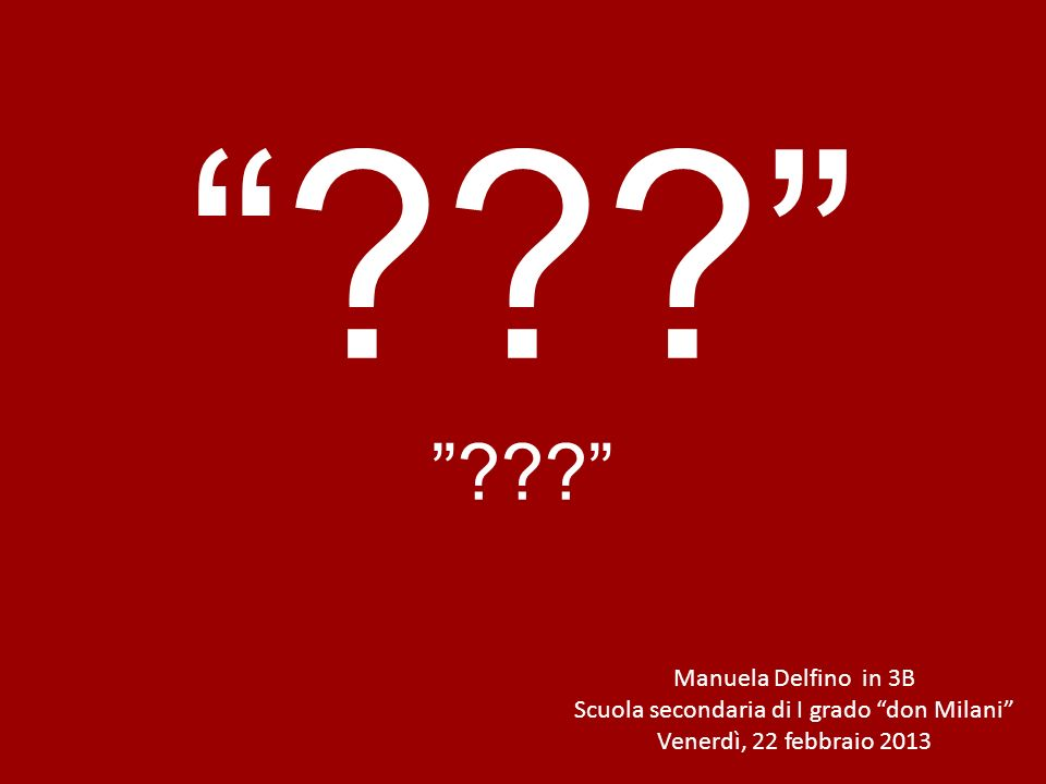 Per contatti: manuela.delfino@istruzione.it