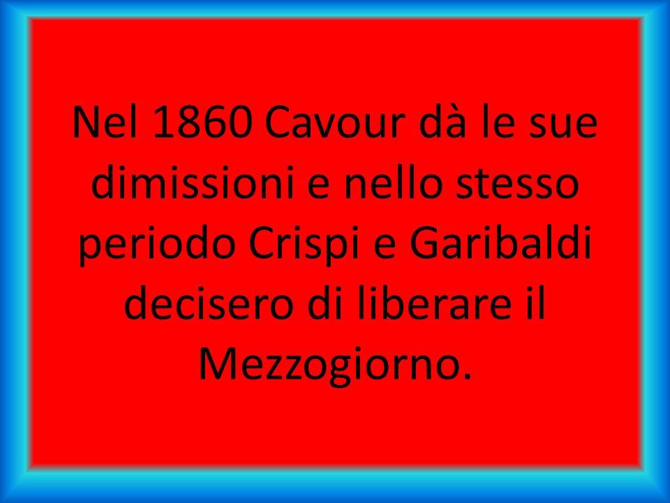 Garibaldi partì da Quarto per sbarcare a Marsala con 1000 garibaldini, essi sconfissero i borbonici a Calatafimi e riuscirono ad entrare a Palermo.