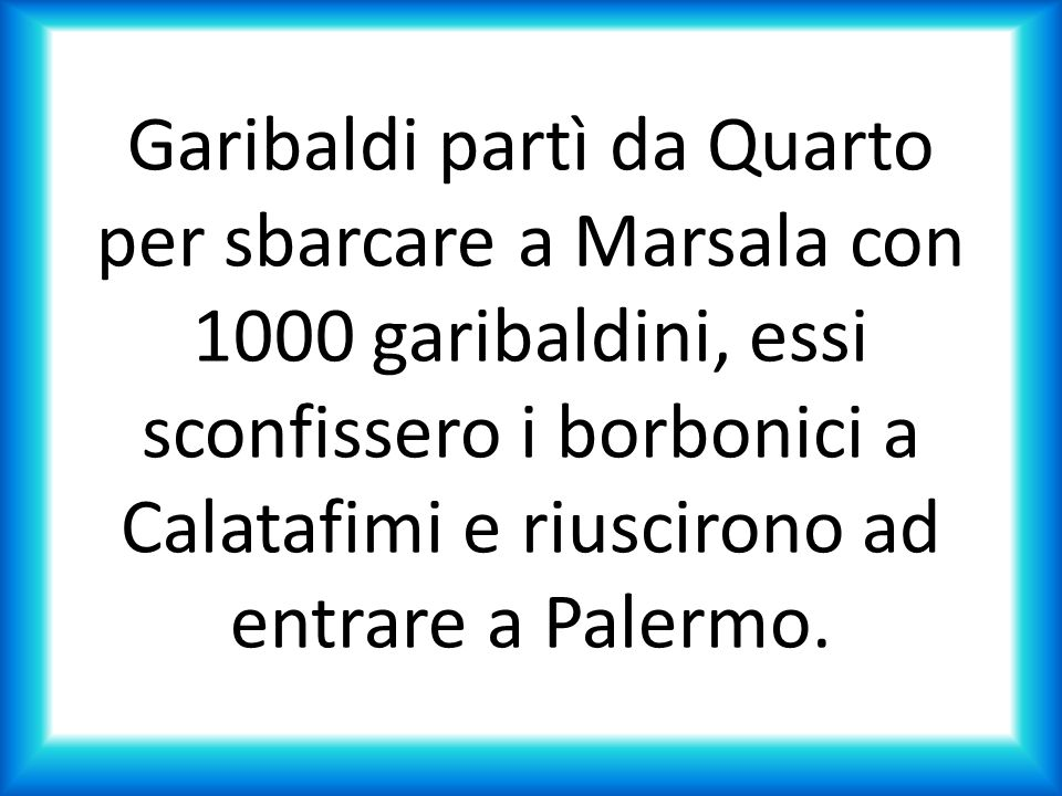 A causa di incomprensioni fra contadini e garibaldini vennero ordinate da Nino Bixio, braccio destro di Garibaldi, alcune fucilazioni di ribelli a Bronte.