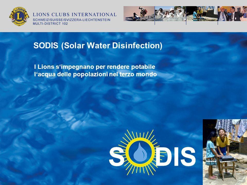 Perchè ci impegniamo a favore del progetto SODIS.