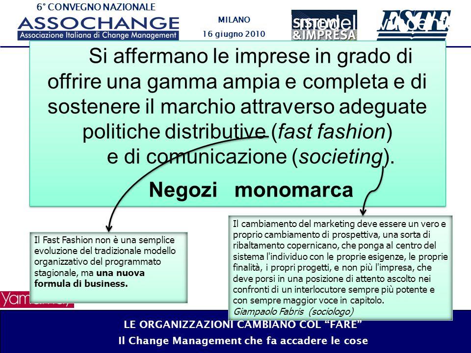 6° CONVEGNO NAZIONALE MILANO 16 giugno 2010 Il modello vincente LE ORGANIZZAZIONI CAMBIANO COL FARE Il Change Management che fa accadere le cose